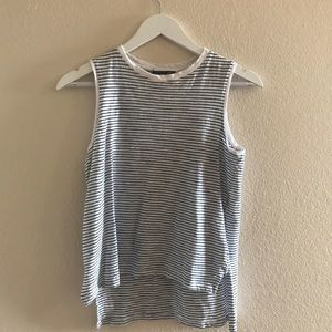 {Zara} Collection White & Black Stripe Tank/ Shell